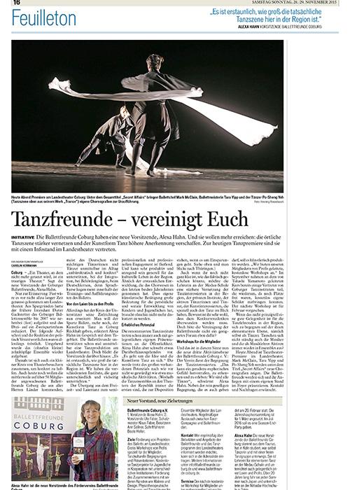 Coburger Tageblatt 28.11. 2015